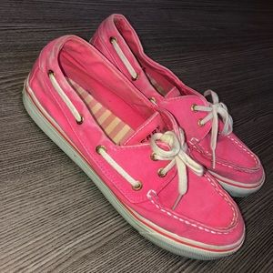 Pink Sperry Slip-Ons